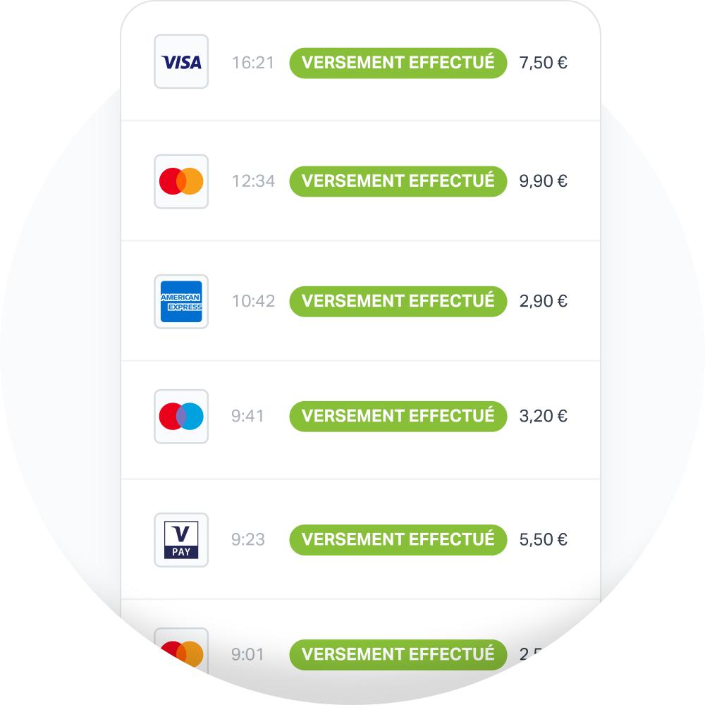 Vous allez recevoir vos paiements directement sur votre compte sous 2-3 jours ouvrés (hors week-ends et jours fériés).
